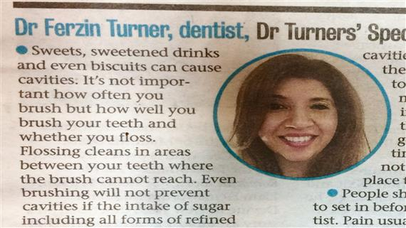 Dr Ferzin Turner-Dentist article